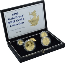 1995 Proof Britannia Gold 4-Coin Set Boxed
