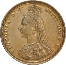 1887 Gold Sovereign - Victoria Jubilee Head - S