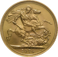 1974 Gold Sovereign -  Elizabeth II Decimal Portrait