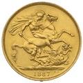 1887 Gold Two Pound Double Sovereign