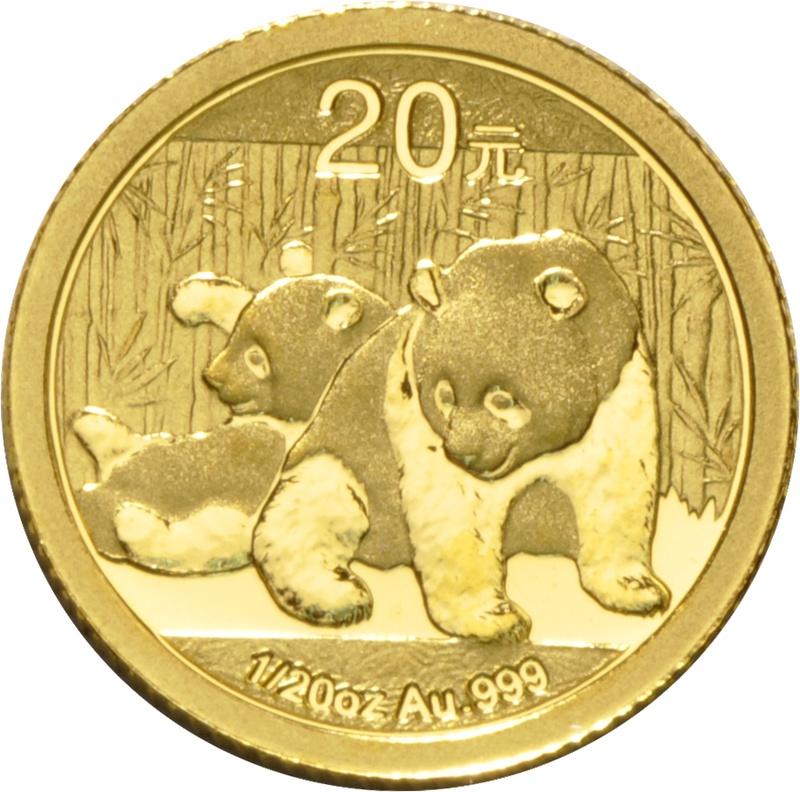 2010 Twentieth Ounce Gold Chinese Panda
