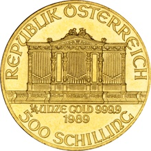 1989 Quarter Ounce Gold Austrian Philharmonic