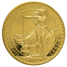 1991 One Ounce Proof Britannia Gold Coin