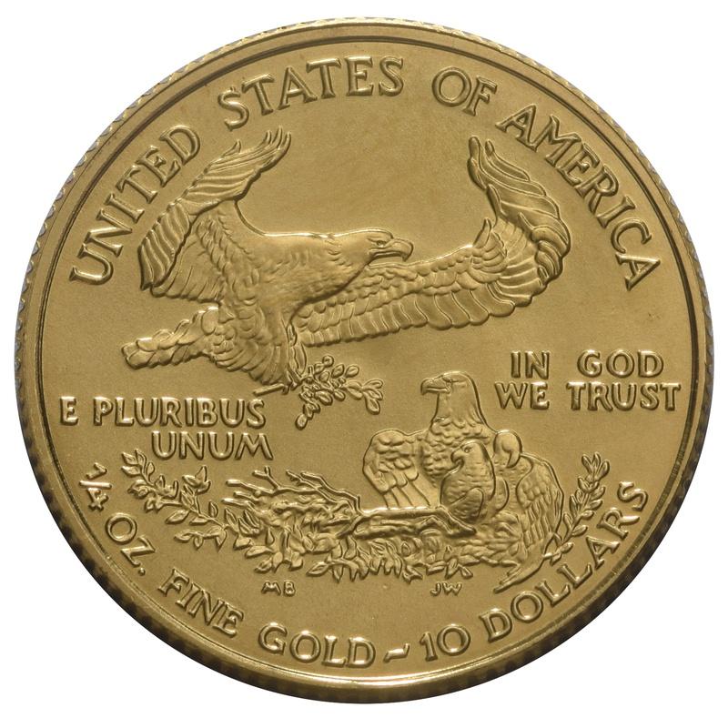 1991 Quarter Ounce Eagle Gold Coin MCMXCI