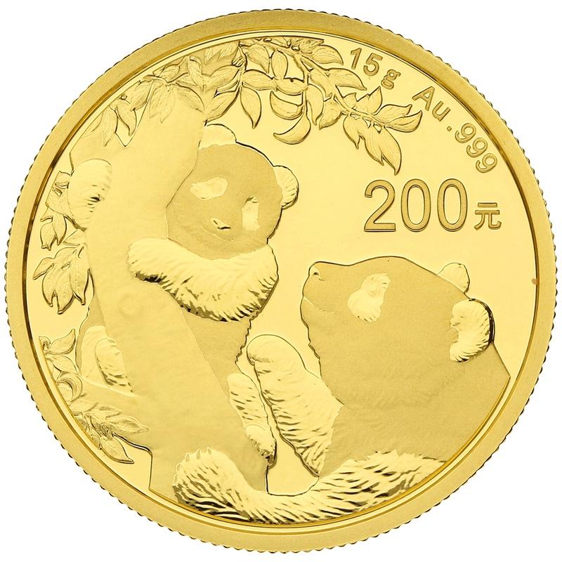 2021 15g Gold Chinese Panda Coin
