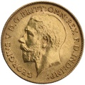 1918 Gold Half Sovereign - King George V - P