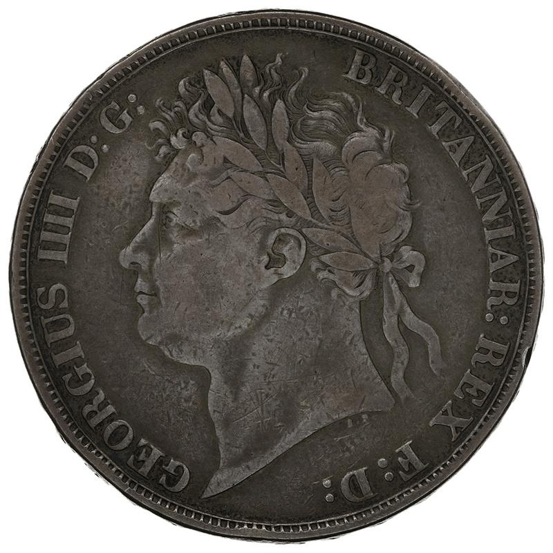 1821 George IV Silver Crown