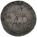 1645 Charles I Silver Crown Exeter Mint mm Castle