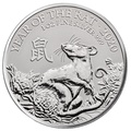 2020 Royal Mint 1oz Year of the Rat Silver Coin