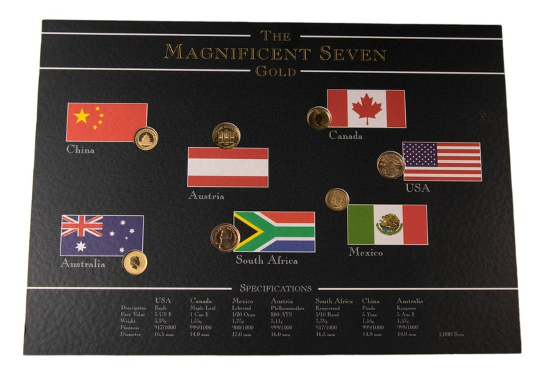 Magnificent Seven Tenth Ounce Gold Coins
