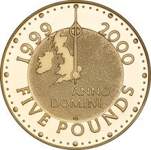 1999 2000 - Gold £5 Proof Crown, Millennium Boxed