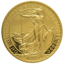 1990 One Ounce Proof Britannia Gold Coin