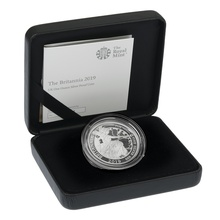2019 Britannia Proof One Ounce Silver Coin Boxed