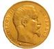 1860 20 French Francs - Napoleon III Bare Head - BB