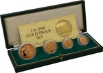 1980 Gold Proof Sovereign Four Coin Set Boxed