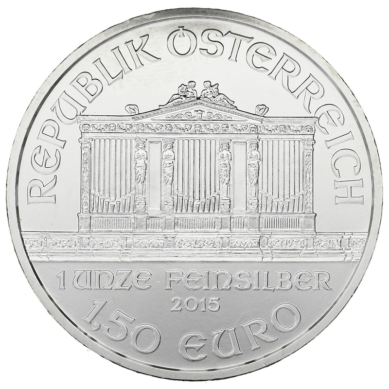 2015 1oz Austrian Philharmonic Silver Coin