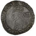 1635-6 Charles I Hammered Silver Shilling - mm Crown