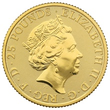 2020 1/4oz White Lion of Mortimer, Queen's Beast Gold Coin