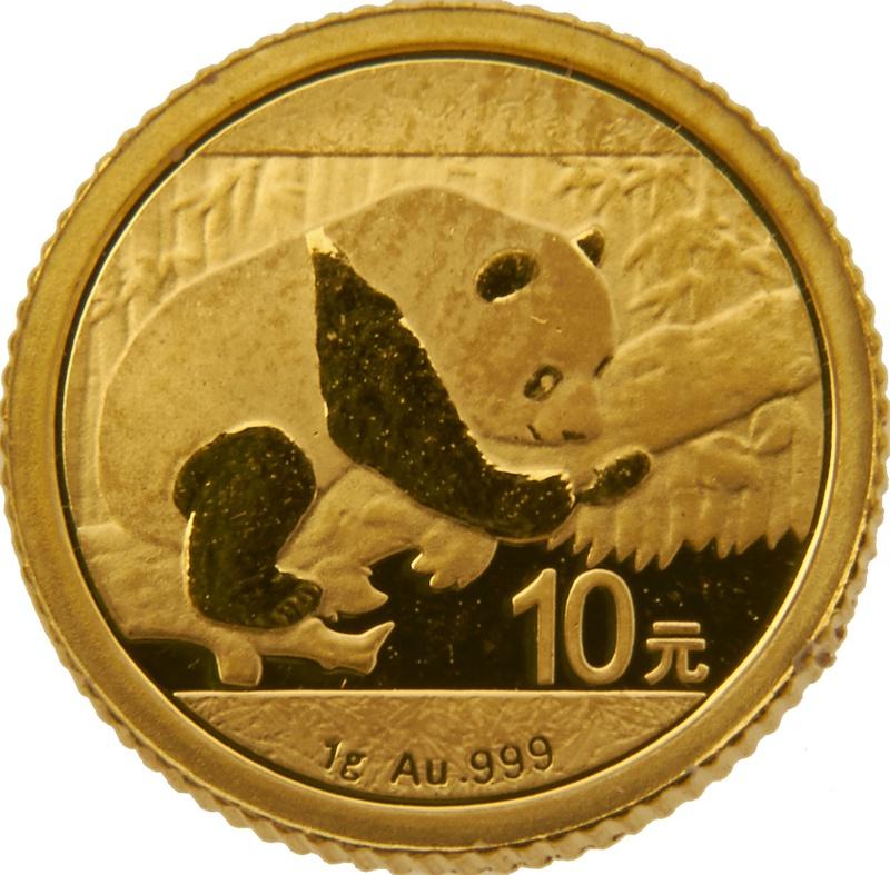 2016 1 Gram Gold Chinese Panda Coin