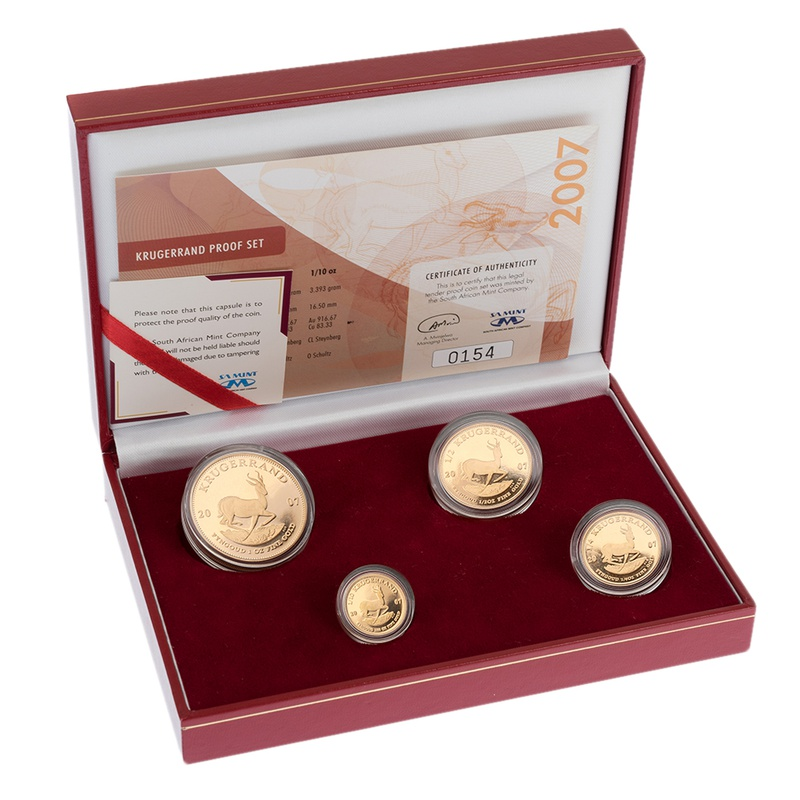 Krugerrand 2007 4-Coin Gold proof Set Boxed
