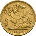 1900 Gold Half Sovereign - Victoria Old Head - London