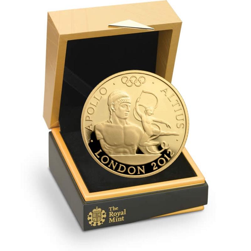 London 2012 Gold Series Altius Apollo Quarter Ounce Proof Gold Coin Boxed