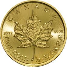 2017 Half Ounce Gold Maple