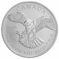 2014 1oz Canadian Peregrine Falcon Silver Coin
