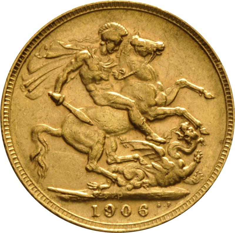 1906 Gold Sovereign - King Edward VII - P