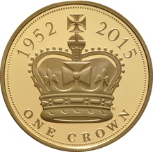 2015 - Gold £5 Proof Crown, The Longest Reigning Monarch Boxed