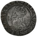 1590-2 Elizabeth I Silver Sixpence mm Hand