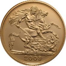 2008 Gold Half Sovereign Elizabeth II Fourth Head