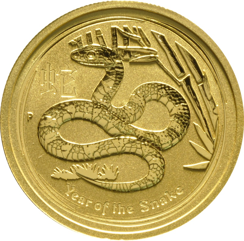 2013 1oz Year of the Snake Gold Coin
