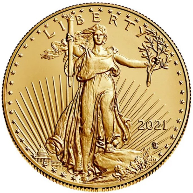 2021 1oz American Eagle Gold Coin Type II