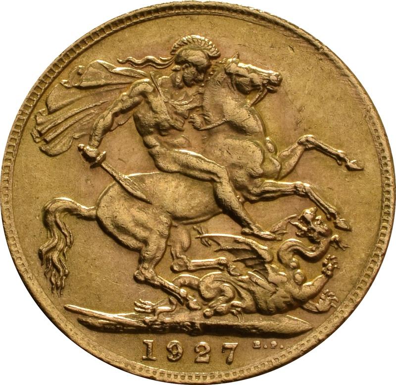 1927 Gold Sovereign - King George V - SA