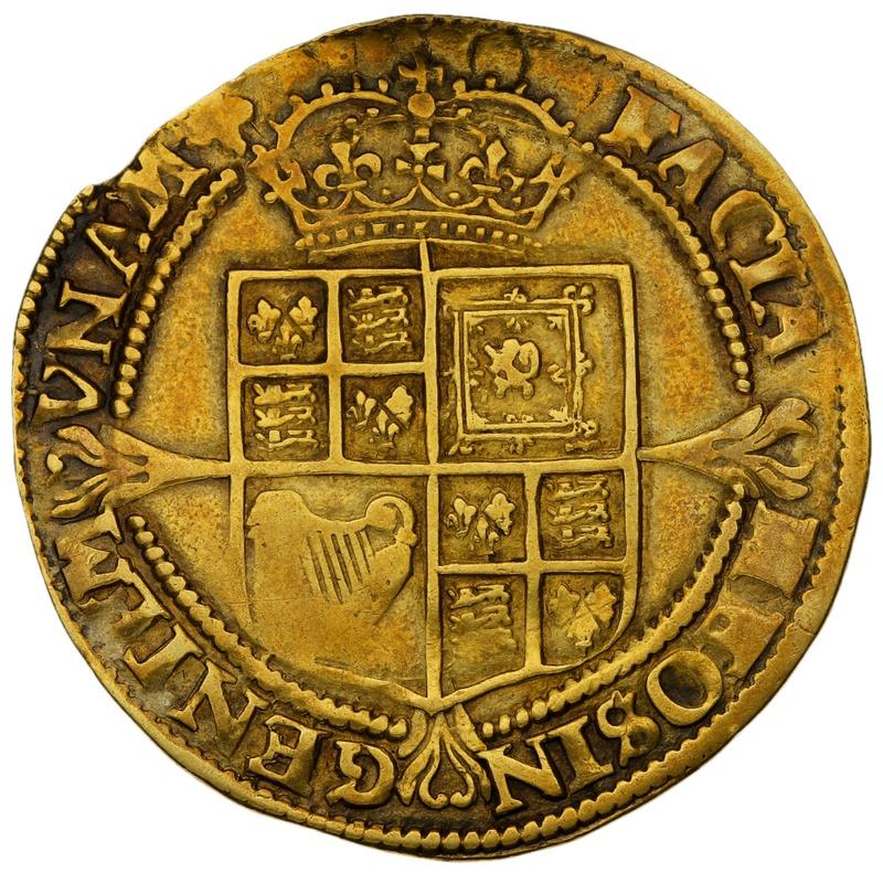 1624 James I Hammered Gold Laurel mm trefoil