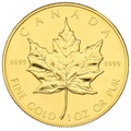 1989 1oz Canadian Maple Gold Coin