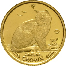 Twenty Fifth Ounce Gold Isle of Man Manx Crown Coin
