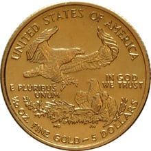 2014 Tenth Ounce Eagle Gold Coin