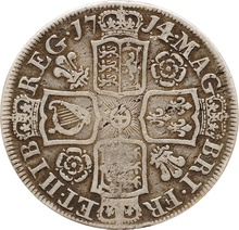 1714 Anne Silver Half Crown