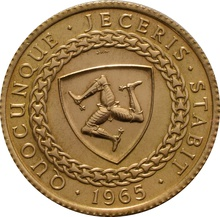 22ct 1965 Isle of Man Gold Sovereign Coin Bicentenary of the Revestment Act