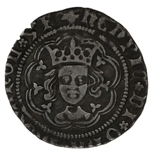 1430-1 Henry VI Silver Halfgroat Rossette-Mascle issue. Calais Mint
