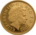 Gold 1p One Penny Piece