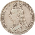 1889 Victoria Jubilee Head Silver Crown