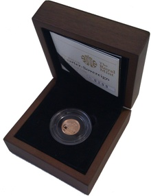 2011 Quarter Sovereign Gold Proof Coin Boxed