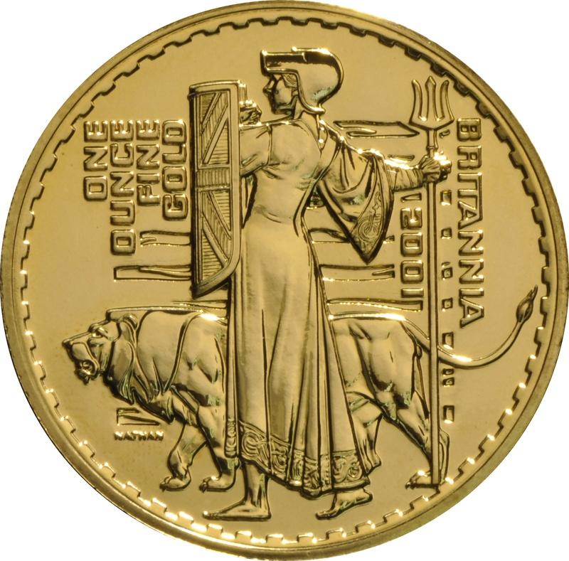 2001 Gold Britannia One Ounce Coin
