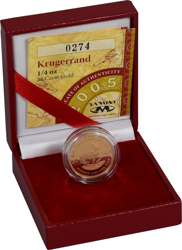 2005 1/4oz Gold Proof Krugerrand - Boxed