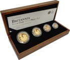 2009 Proof Britannia Gold 4-Coin Set Boxed
