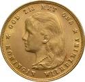 10 Guilders Netherlands Wilhelmina Young Head 1897