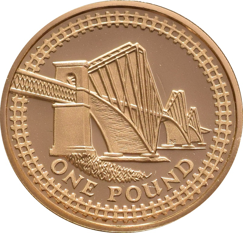 £1 One Pound Proof Gold Coin - Bridges -2004 Forth Railway